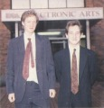 Nick Wilson (left) and Matthew Stibbe, ca. 1990, during the Imperium development for EA. <small>Source: The One #17, 1990/2</small>