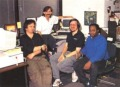 Parts of the Origin graphic design team in 1990: Keith Burdak, Denis Loubet, Daniel Bourbonnais, Glen Johnson (from left to right). Source: ACE #31, 1990/4