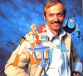 Don Bluth and some of his Space Ace creations, ca. 1990. Source: ACE #33, 1990/6