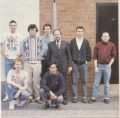 George Williamson (standing, most right) on a Maelstrom Games team picture in 1990. Source: The One #27, 1990/12