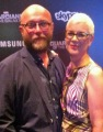 Nicola Vincent-Abnett (right) with her husband Dan Abnett (left), 2014. Photo from Nicola's personal blog.