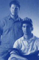 Circa 1991 <br> Andy Gavin (left) and Jason Rubin (right) <br> <small>source: <i>Rings of Power</i> (manual)</small>