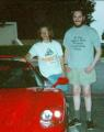 Carmack (left) with Seumas McNally, next to Carmack's famous Ferrari