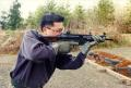 Rod Fung visits a Seattle area shooting range during the making of SWAT 3
