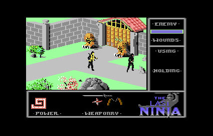 The Last Ninja Screenshot For C64.