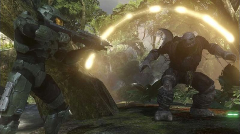 Halo 3 Screenshot The Brute is raging!