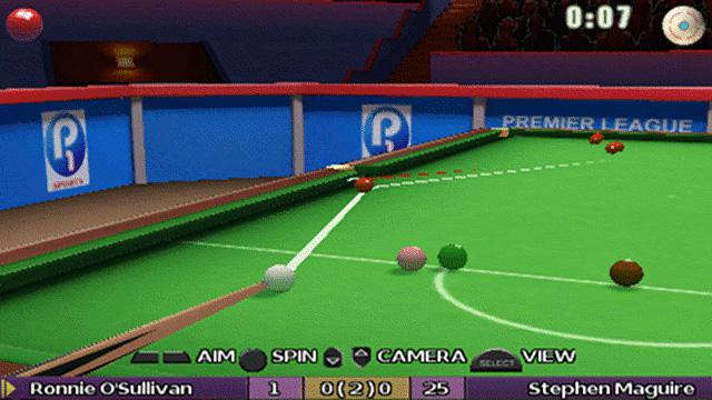 Ronnie O'Sullivan's Snooker Screenshot