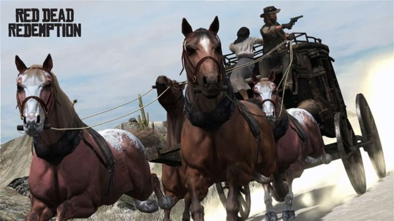 Red Dead Redemption Screenshot Stagecoach action