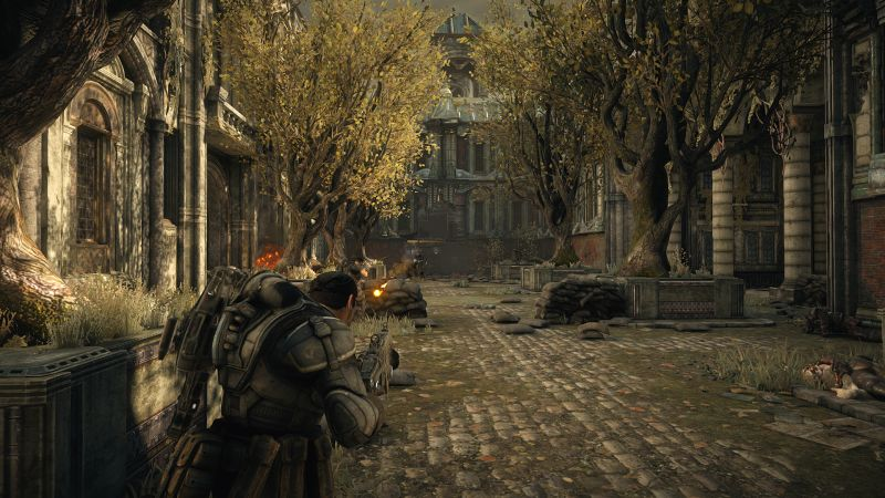 Gears of War: Ultimate Edition Screenshot Fighting in the streets