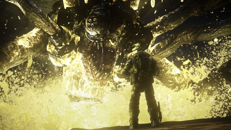 Gears of War: Ultimate Edition Screenshot Killing a Corpser with Emulsion