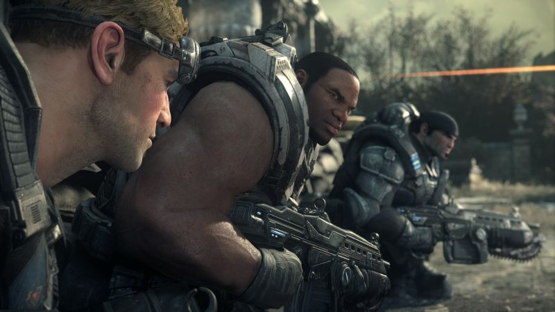 Gears of War: Ultimate Edition Screenshot The Gears in cover