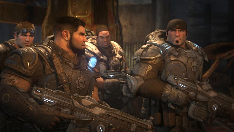 Gears of War: Ultimate Edition Screenshot Discussing the situation
