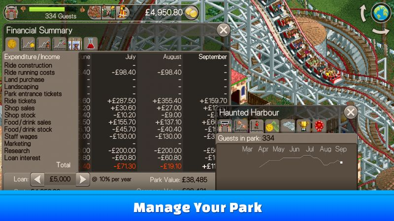 RollerCoaster Tycoon: Classic Screenshot