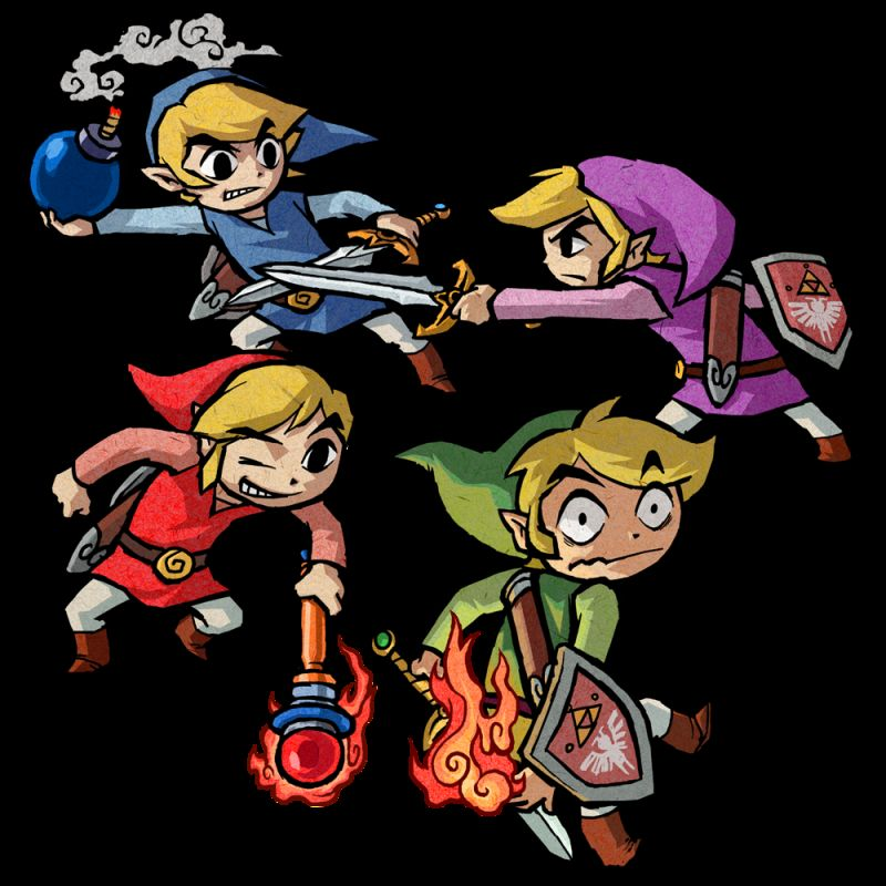The Legend of Zelda: Four Swords Adventures Render