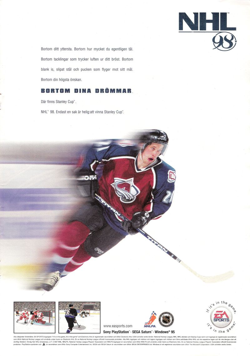 NHL 98 Magazine Advertisement