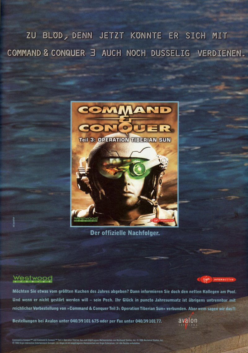 Command & Conquer: Tiberian Sun Magazine Advertisement