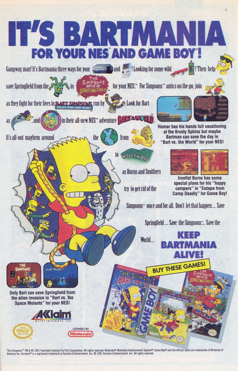 The Simpsons: Bart vs. the World Magazine Advertisement