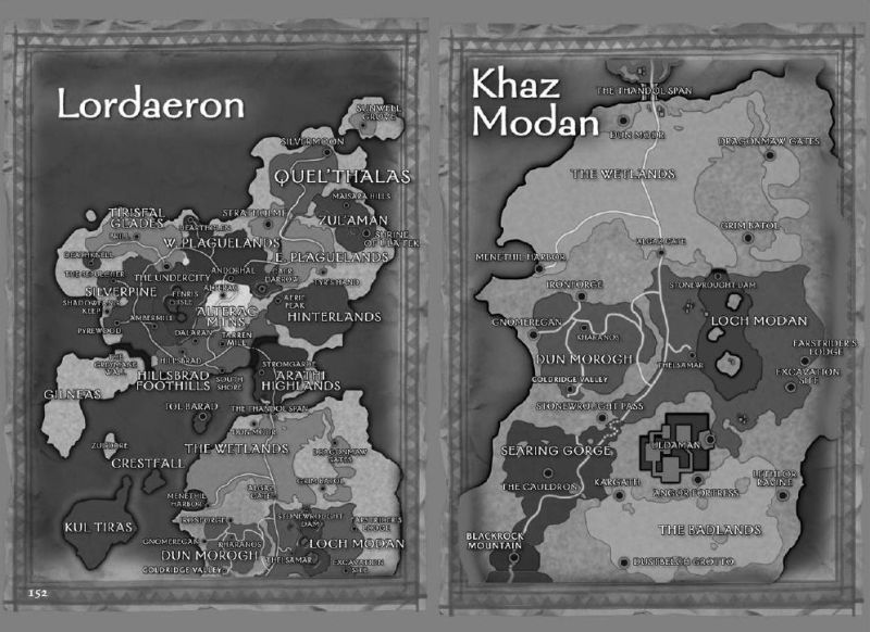 World of WarCraft Other Maps of Lordaeron and Khaz Modan, the maps are contained the Postal Service section of Chapter 10