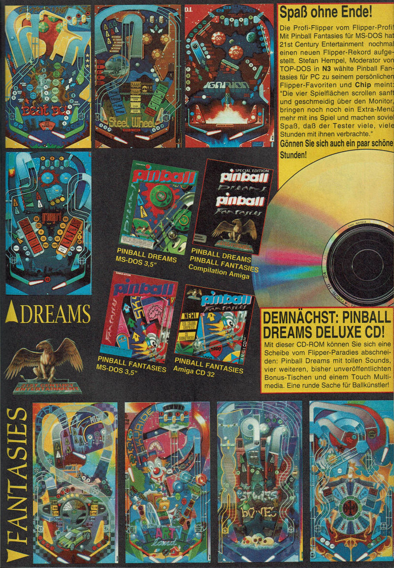 Pinball Fantasies Magazine Advertisement