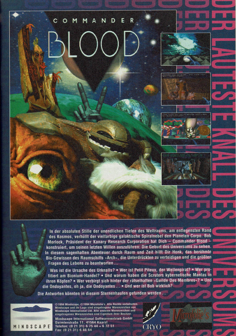 Commander Blood Magazine Advertisement