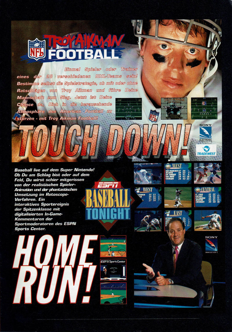 Troy Aikman NFL Football Magazine Advertisement