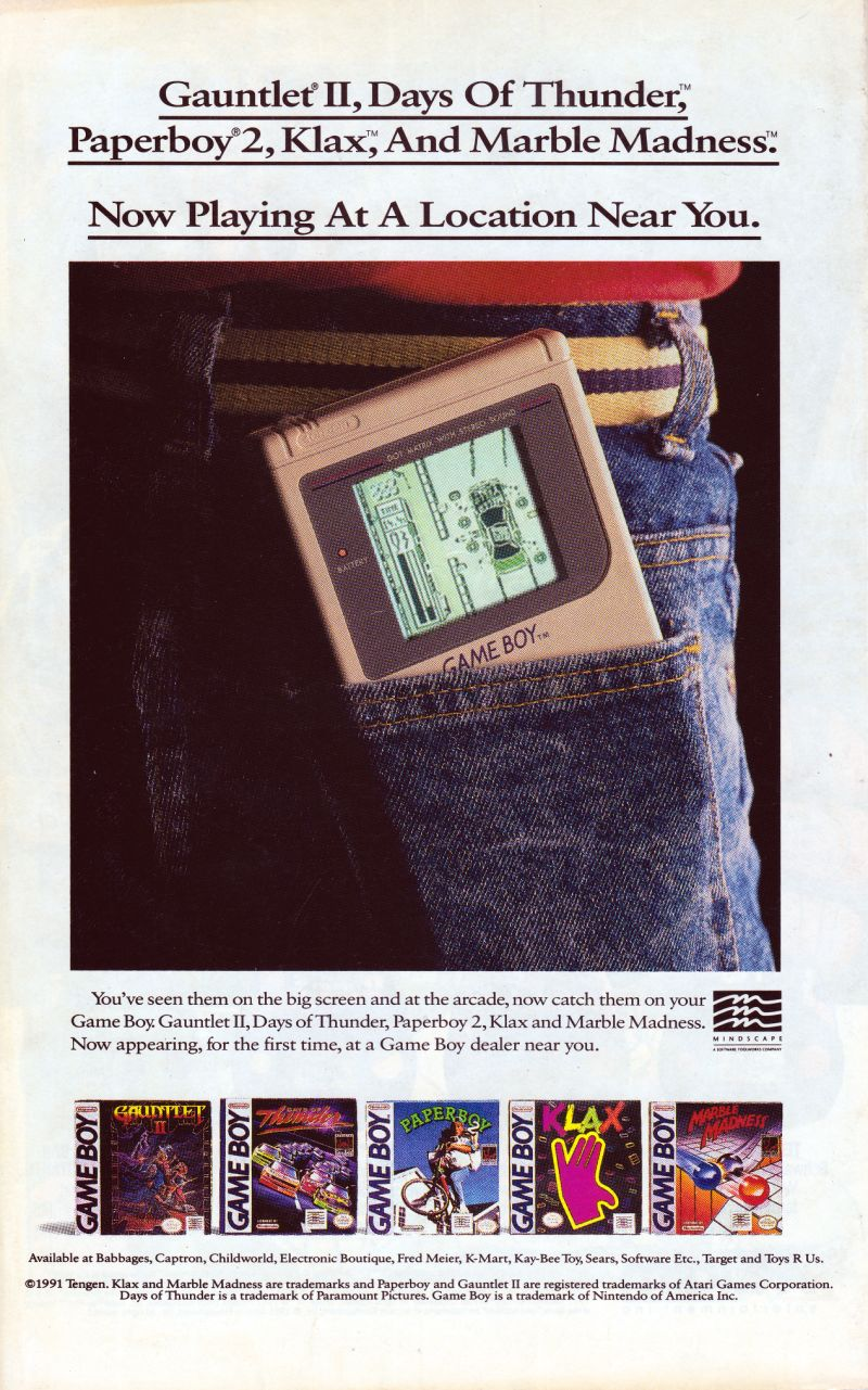 Klax Magazine Advertisement Back Cover