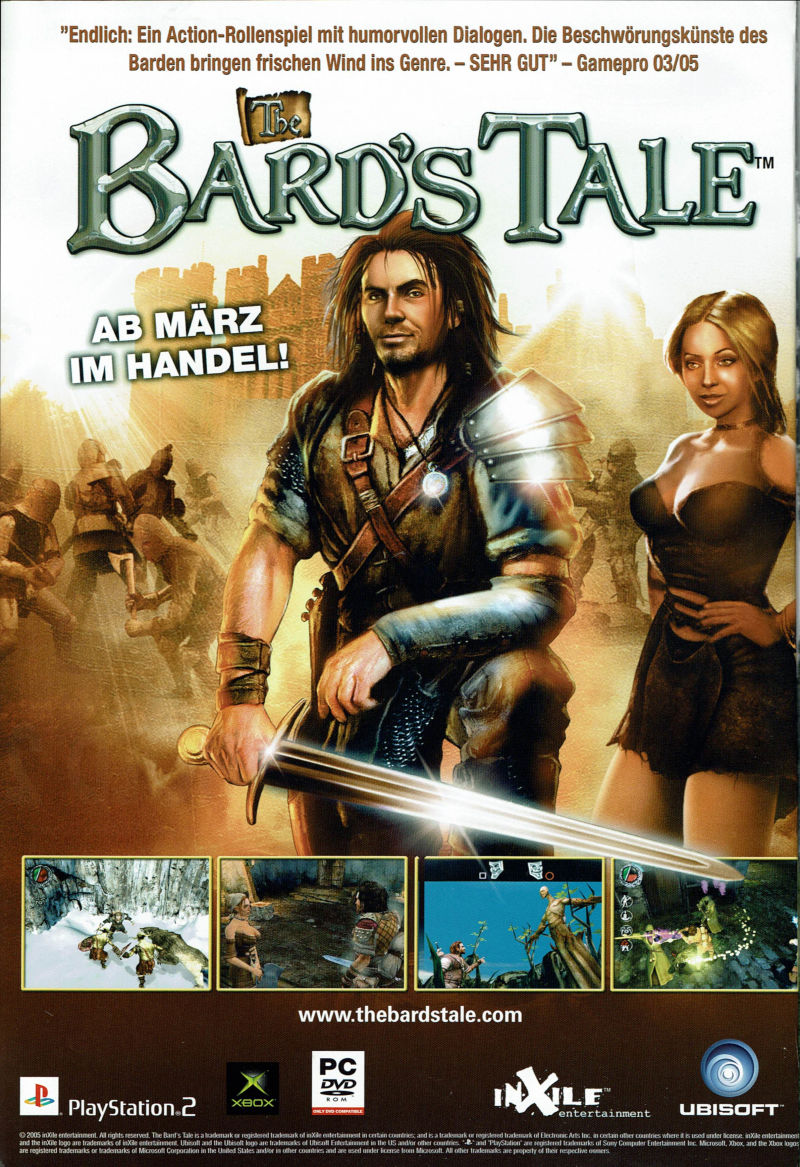 The Bard's Tale Magazine Advertisement