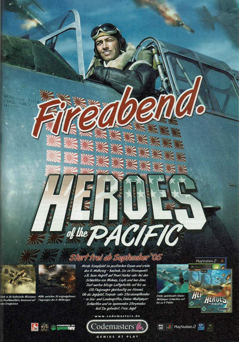 Heroes of the Pacific Magazine Advertisement