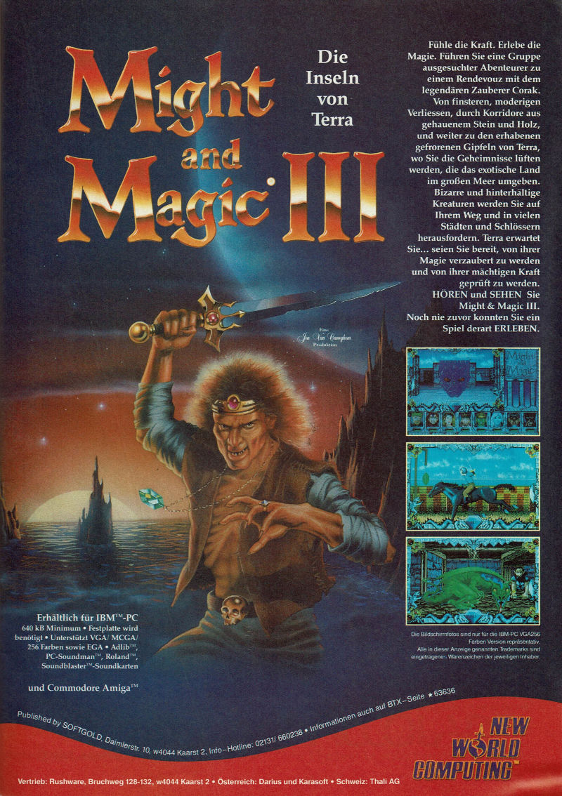Might and Magic III: Isles of Terra Magazine Advertisement