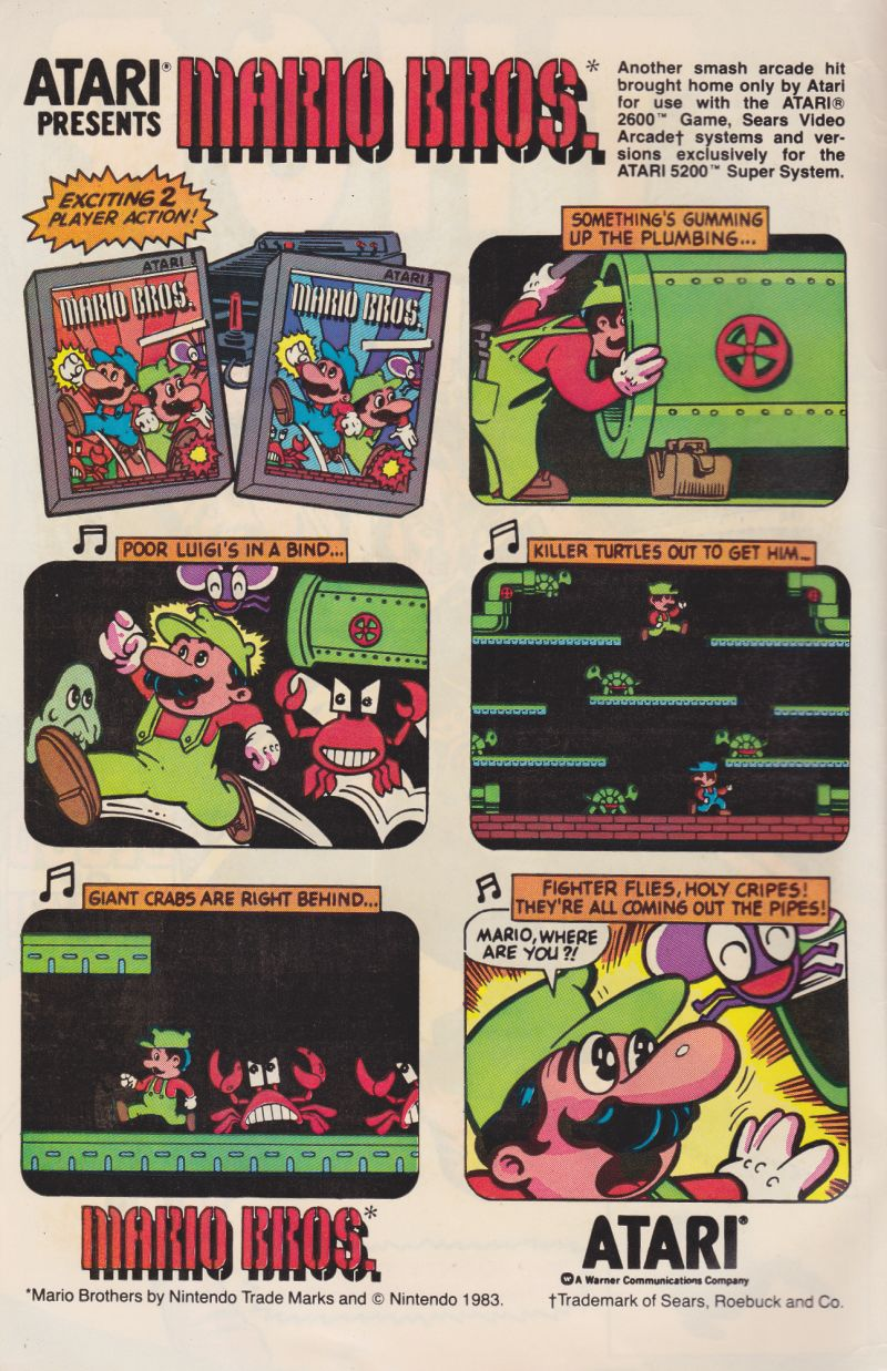 Mario Bros. Magazine Advertisement Inside front cover