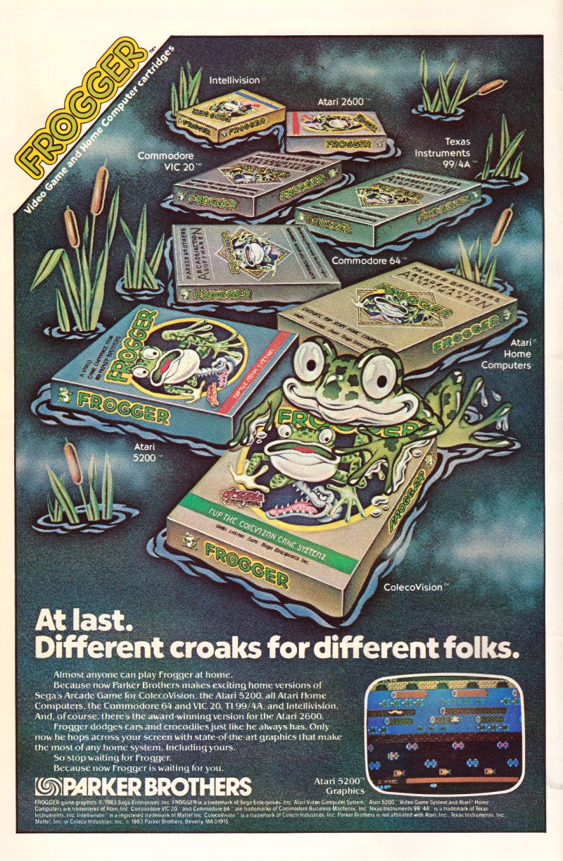 Frogger Magazine Advertisement Inside front cover