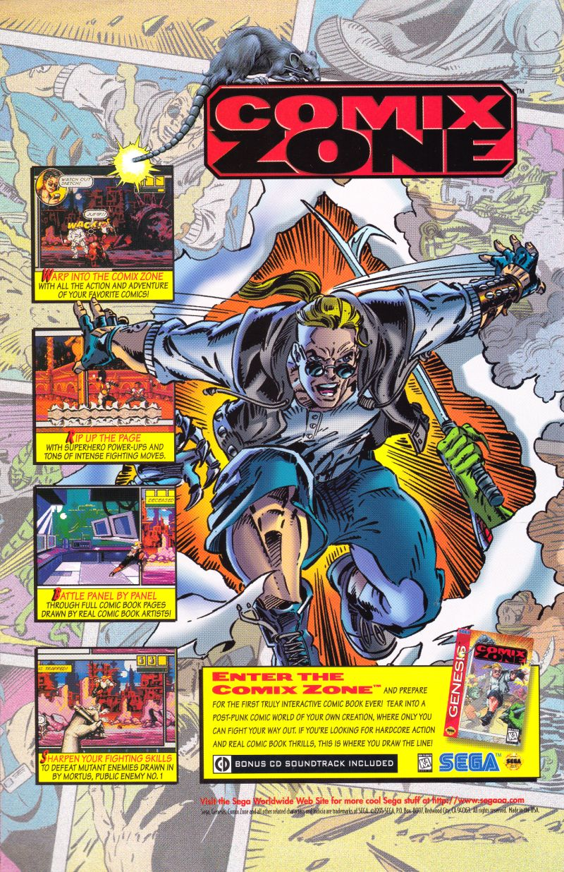 Comix Zone Magazine Advertisement Back cover