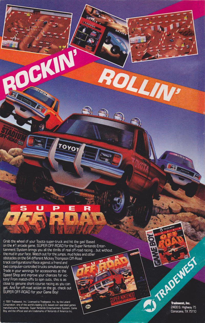 Ivan 'Ironman' Stewart's Super Off Road Magazine Advertisement Inside Front Cover