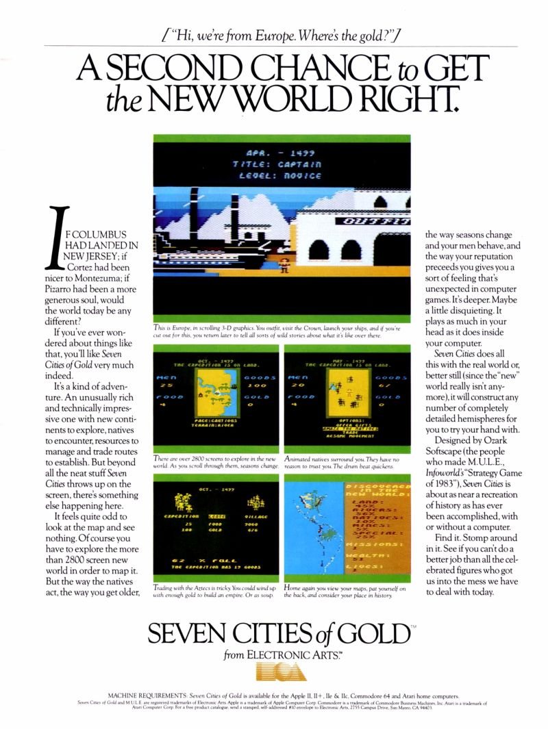 The Seven Cities of Gold Magazine Advertisement