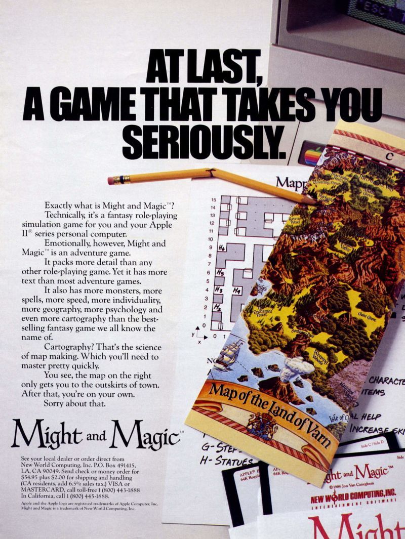 Might and Magic: Book One - Secret of the Inner Sanctum Magazine Advertisement
