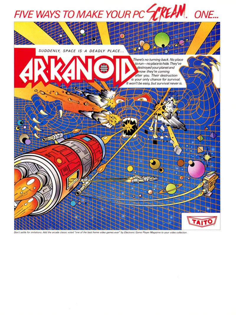 Arkanoid Magazine Advertisement