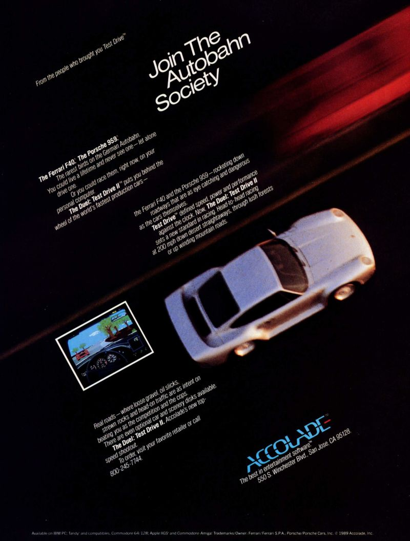 The Duel: Test Drive II Magazine Advertisement