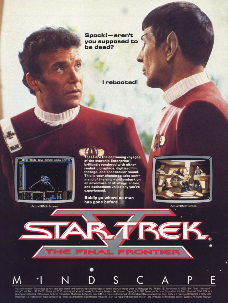 Star Trek V: The Final Frontier Magazine Advertisement