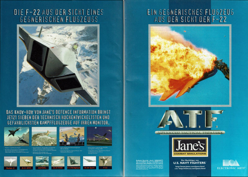 Jane's Combat Simulations: ATF - Advanced Tactical Fighters Magazine Advertisement