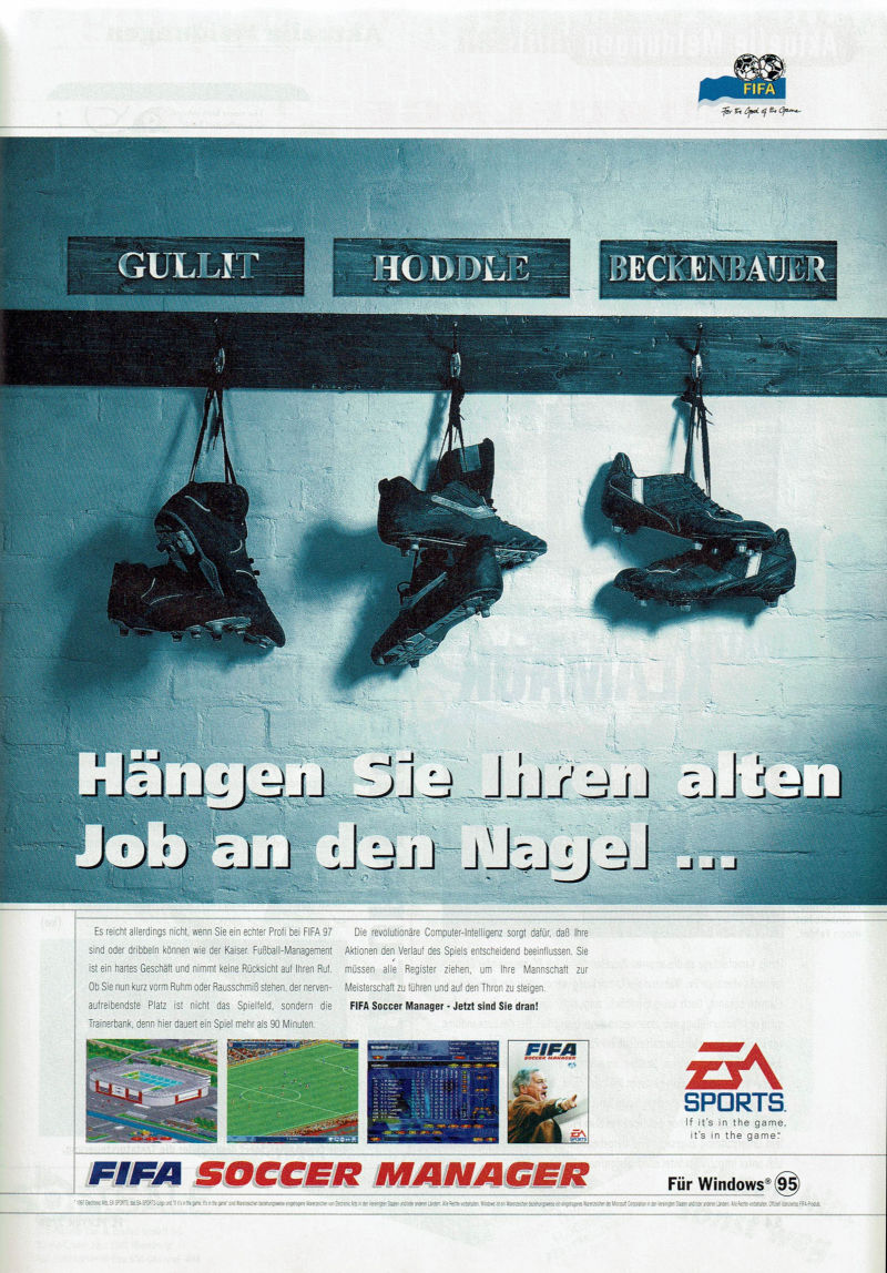 FIFA Soccer Manager Magazine Advertisement