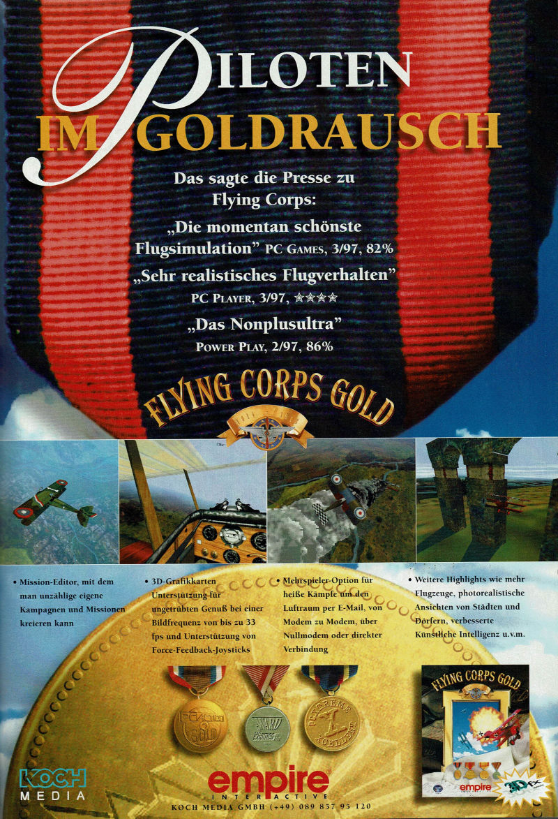 Flying Corps: Gold Magazine Advertisement