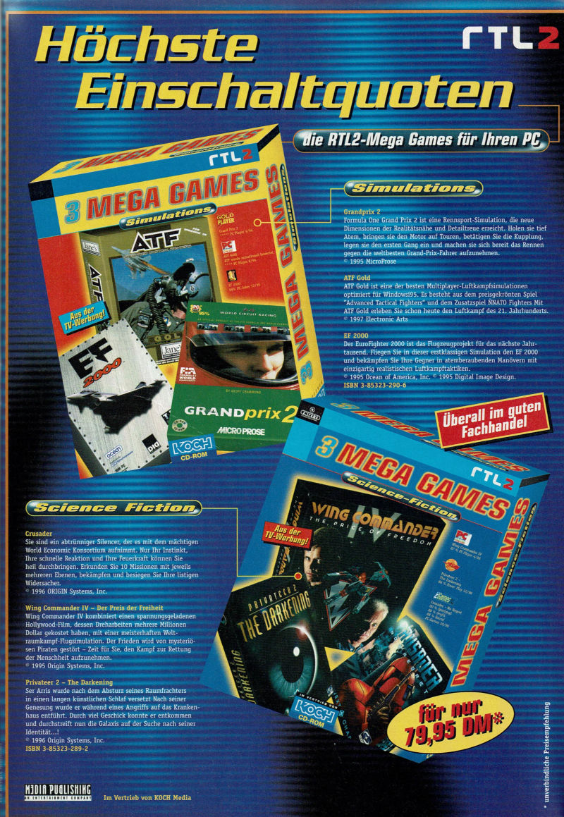 3 Mega Games: Simulations Magazine Advertisement