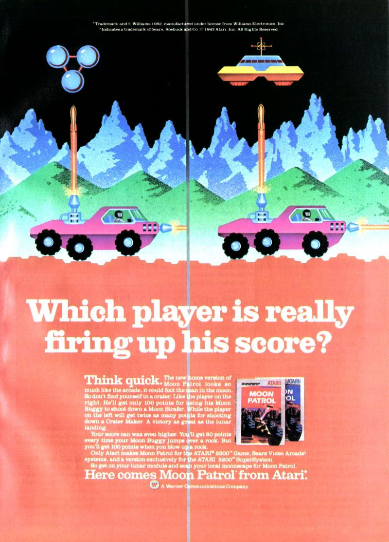 Moon Patrol Magazine Advertisement