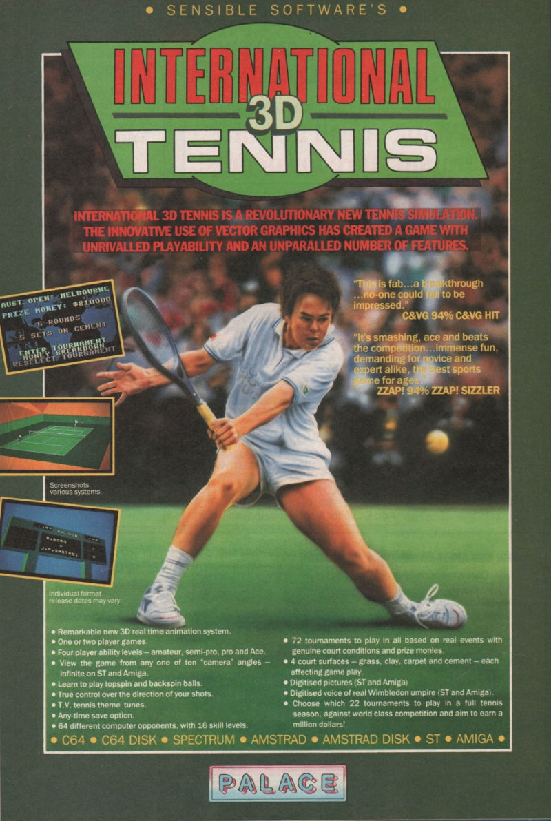 International 3D Tennis Magazine Advertisement Page 48