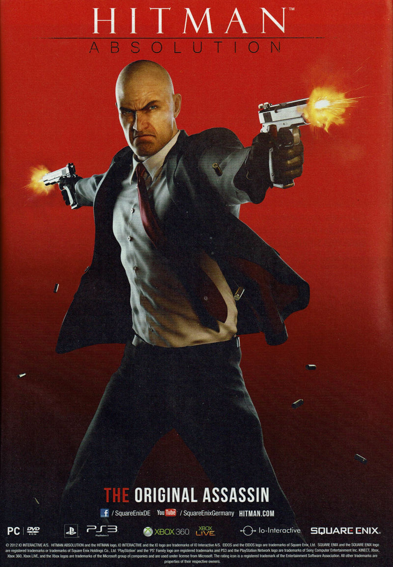 Hitman: Absolution Magazine Advertisement