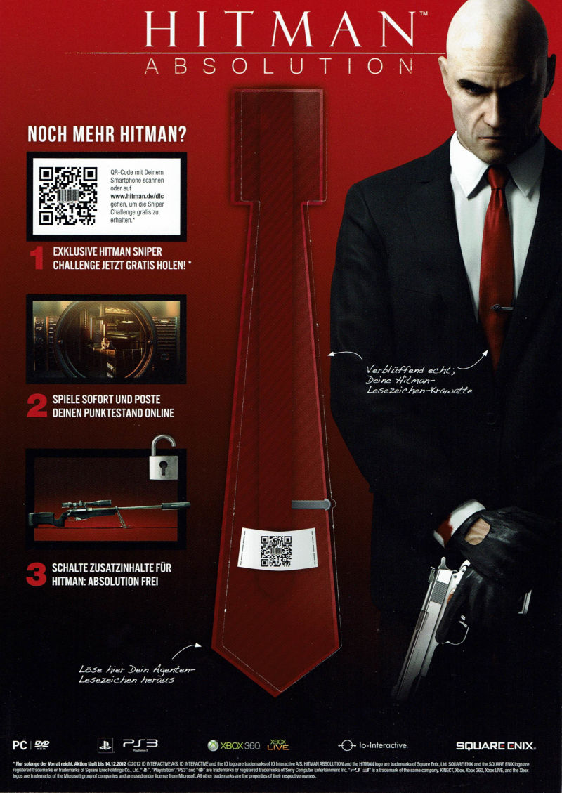 Hitman: Absolution Magazine Advertisement Part 1