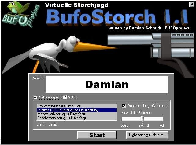 BufoStorch Screenshot