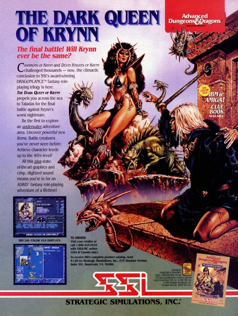 The Dark Queen of Krynn Magazine Advertisement