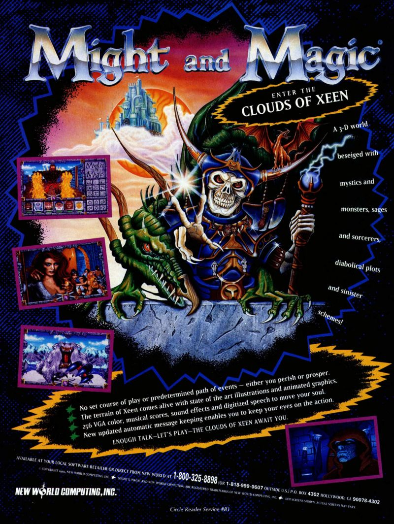 Might and Magic: Clouds of Xeen Magazine Advertisement