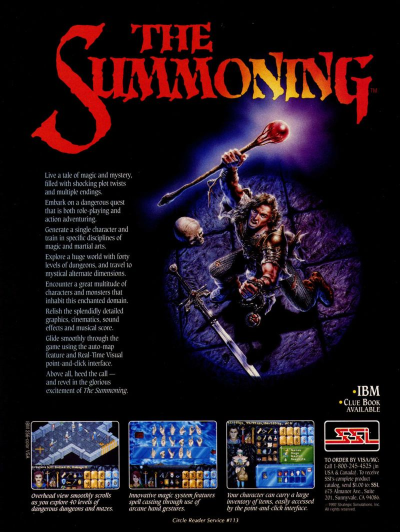 The Summoning Magazine Advertisement